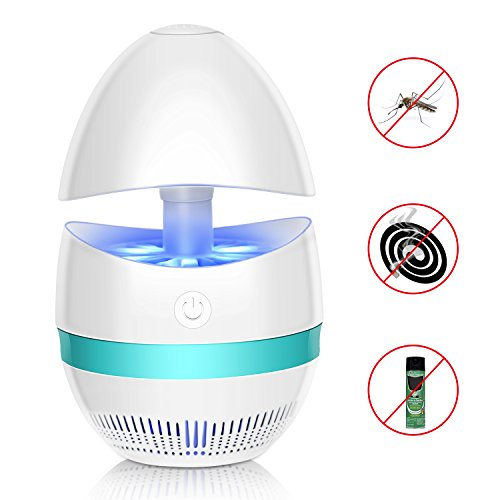 Cynkie Bug Zapper Indoor Mosquito Killer Lamp USB Powered Mosquito Zapper with Built in Fan