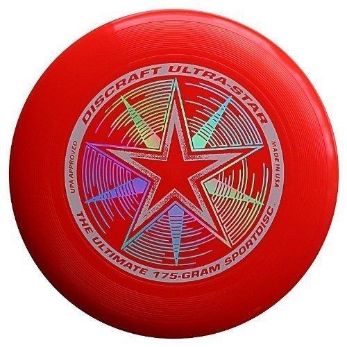 Discraft 175 gram Ultra Star Sport Disc. DARK RED
