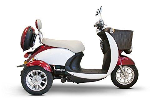 E-Wheels – EW-11 Sport Euro Type Scooter – 3-Wheel – Red/White